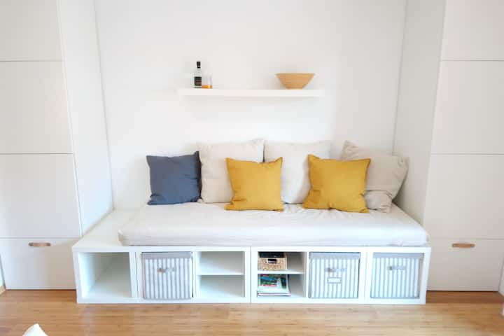 Helles 1-Zimmer Appartment mit Balkon in Steibis