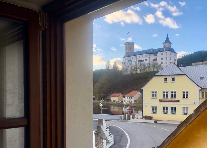 Romantické apartmány na břehu Vltavy