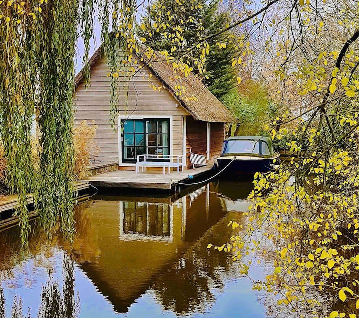Luxury Boathouse + sauna near Leiden & Amsterdam