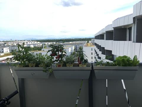 Apartment mit Bergblick