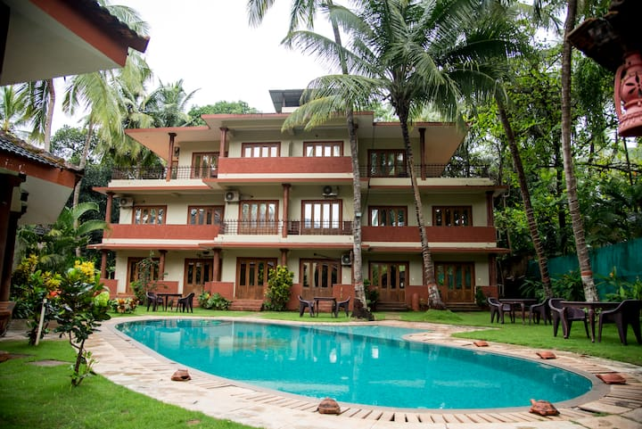 Pool facing 3rooms - morjim beach
