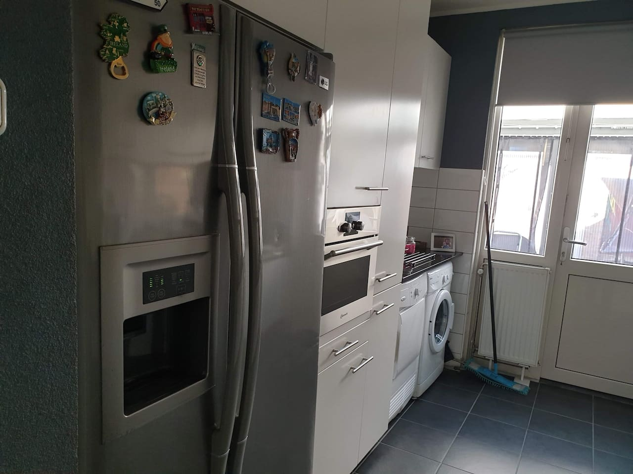 The kitchen can be used to cook meals.