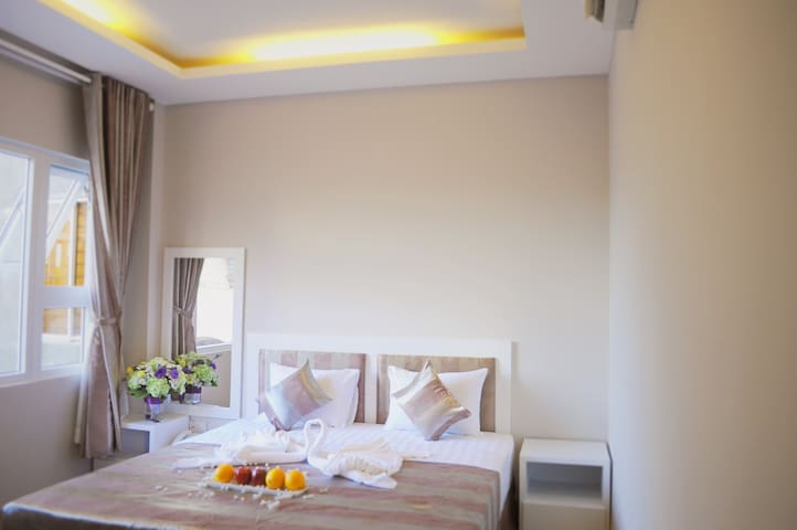 Private double bed room with nature light