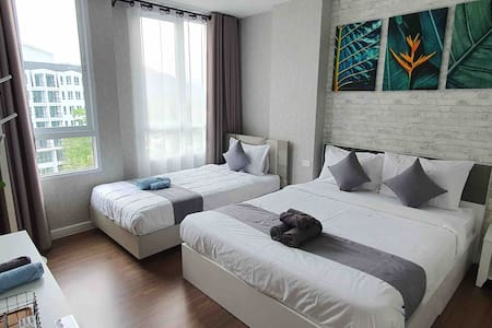 Center Khao Yai /Pool+Mt.View/WashingMch(3-7pax)