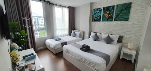 Center Khao Yai /Pool+Mt.View/WashingMch(3-6pax)