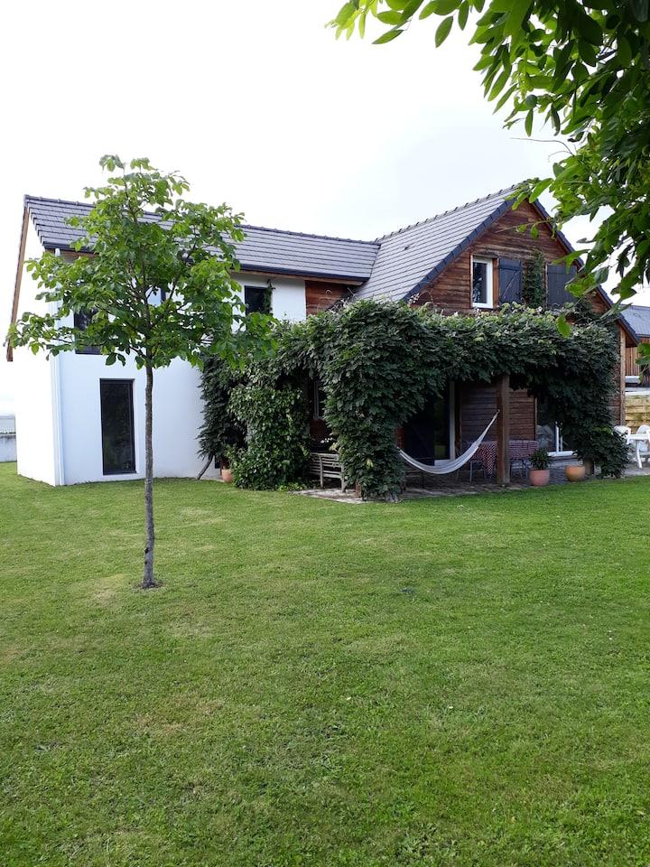 Villa entre Pyrénées et côte atlantique avec spa