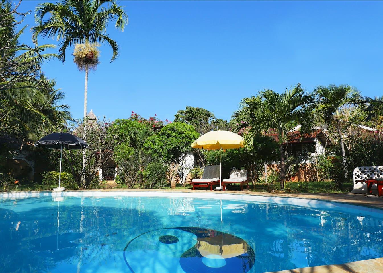 Der Pool - ganzjährig benutzbar. *The pool, opened 365 days a year.
