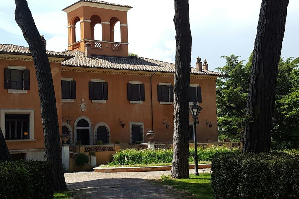 Arrival at villa la torricella