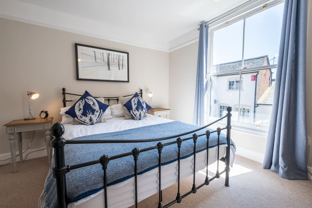 Master bedroom - King sized bed with extra deep Pocket Sprung mattress and quality High Thread Count linen
