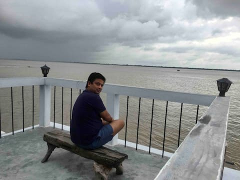 'Moksh' a home on the bank of river Hooghly.