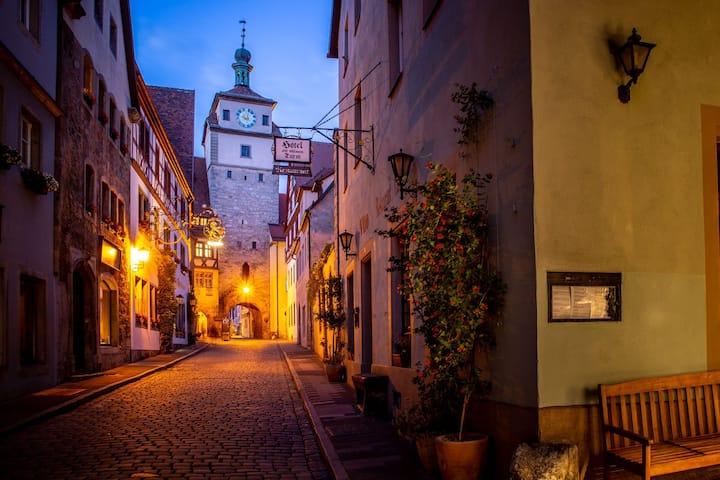 Gästehaus direkt im Stadtzentrum von Rothenburg