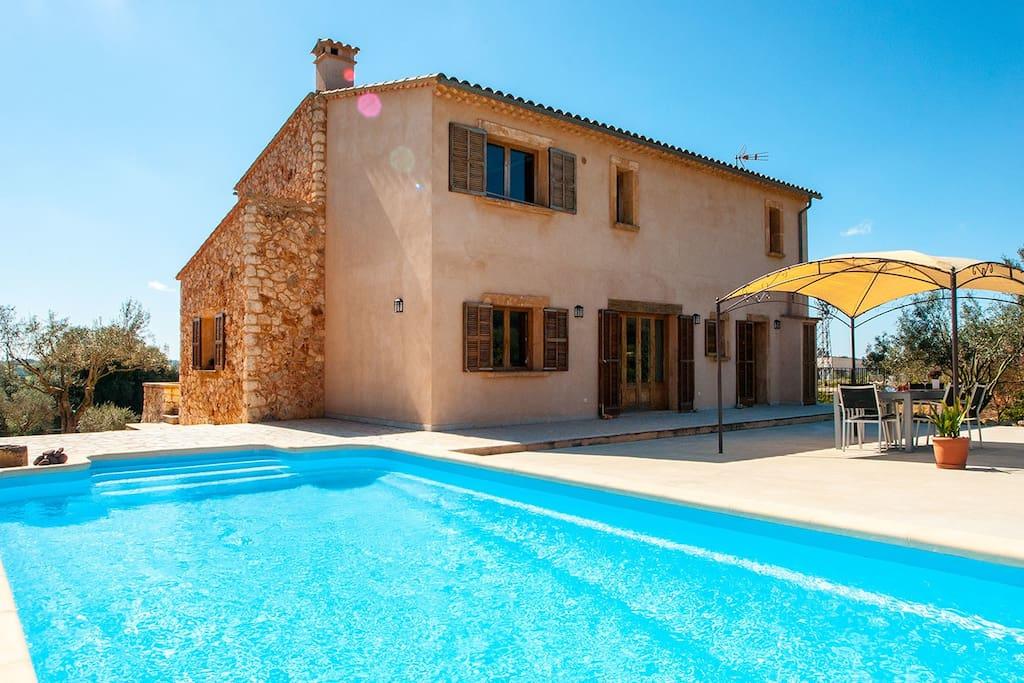 Finca vacacional con piscina casas de campo en alquiler - Alquiler casa manacor ...