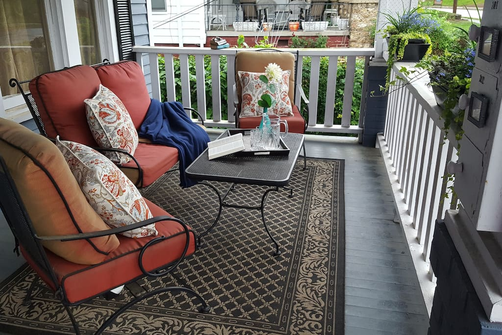 Front porch seating area - great place to relax and read a book.