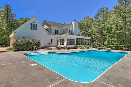 Luxe Family Home w/ Private Pool on Fishing Lake!