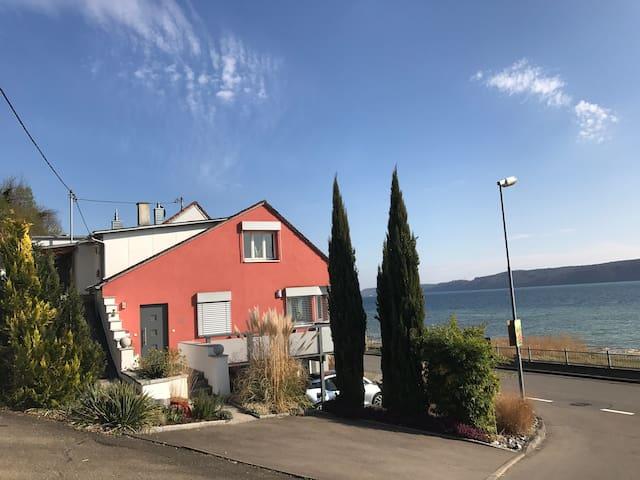 Ferienwohnung in Sipplingen direkt am Bodensee DG - Sipplingen - Lägenhet