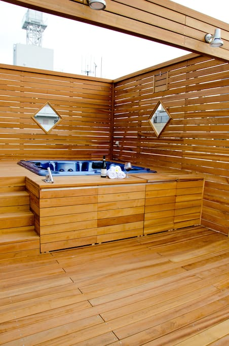 Roof-Top Hot Jacuzzi and BBQ space can be booked and reserved separately. very popular