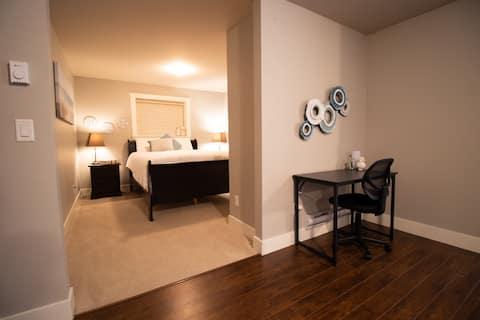 Amplio y privado estudio de 1 dormitorio
