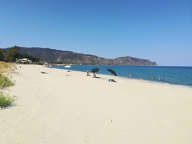 beach villa near milazzo eolian view