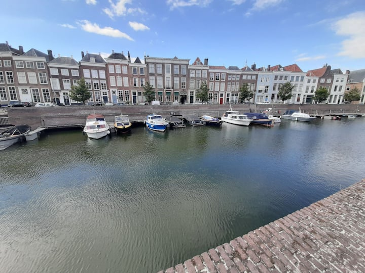 Luxury city loft with private boat in canal
