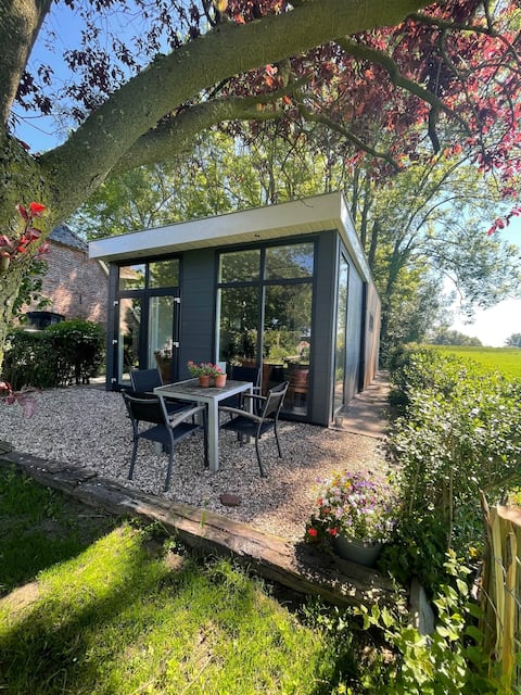 Tuinhuis op de Veluwe vlakbij de IJssel.