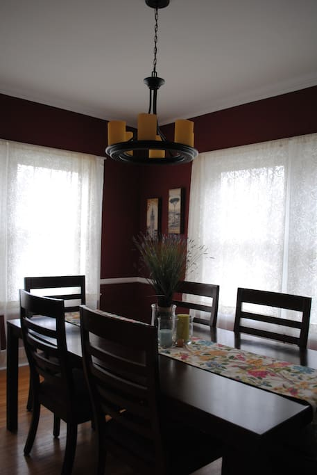 Dining room table seats 6