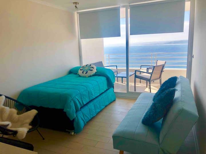 Hermoso departamento en concón vista al mar
