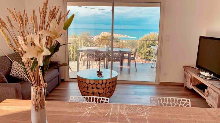 Appartement THAÏS F3 neuf spacieux vue sur la mer