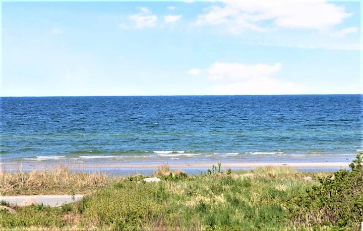 First row beach house 100 meters from the sea