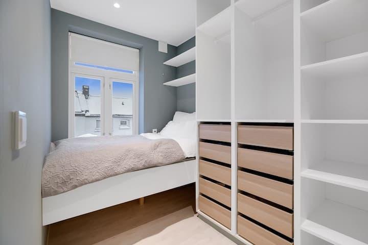 3-roms leilighet med peis