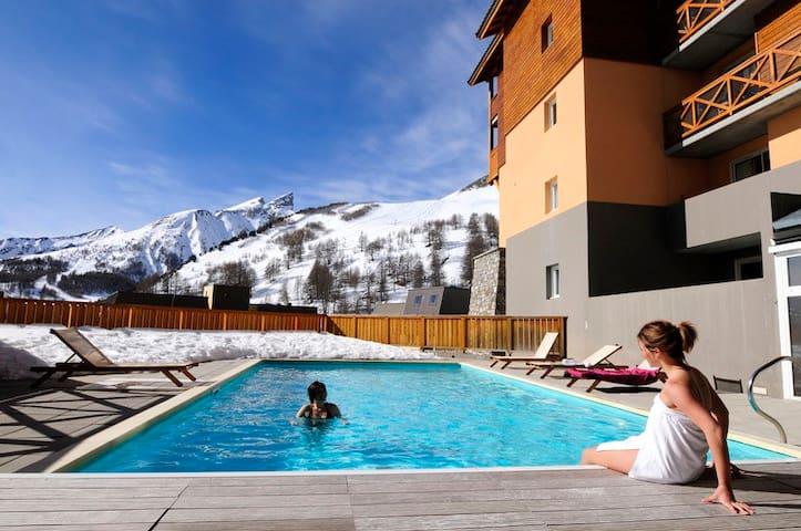 Appartement ski - 4 personnes - la Foux d Allos - Allos