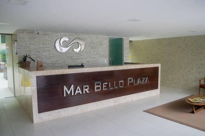 Flat mar Bello Plaza Intermares, conforto e lazer