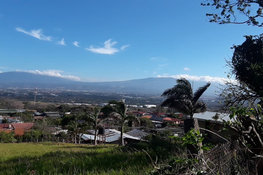 A view of Alajuela from the back of the property