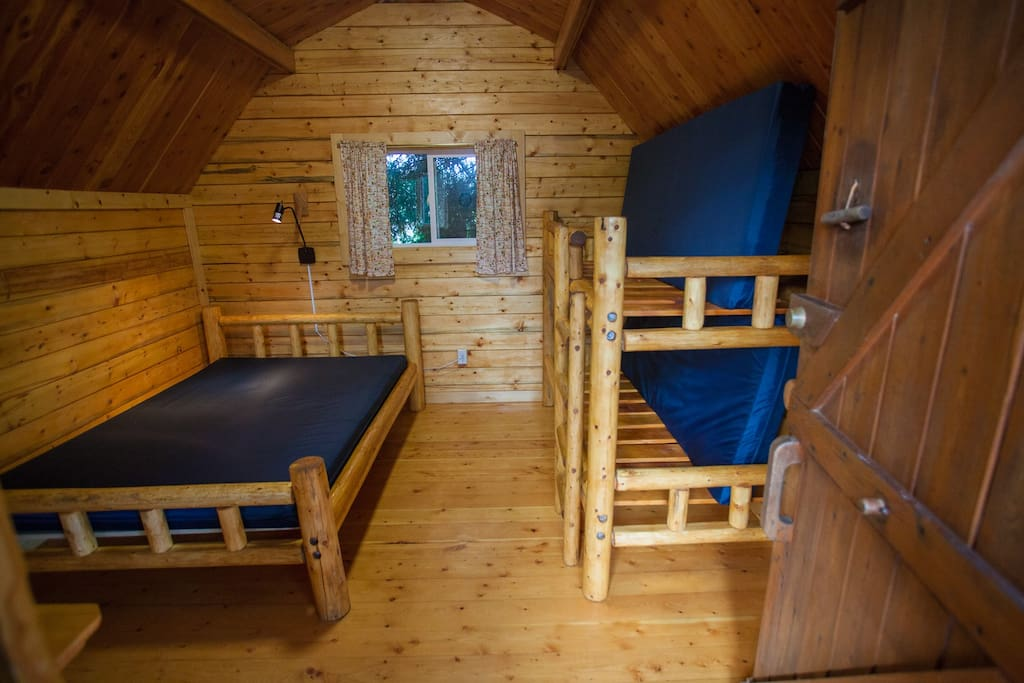 An inside view of the cabin - looking in