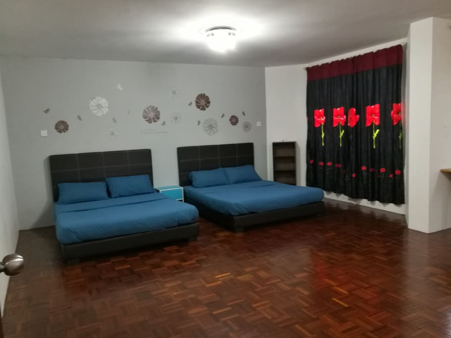 Master Bed Room - 2 Double Bed + 1 Sofa Bed