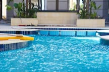 Baby' zone in pool
