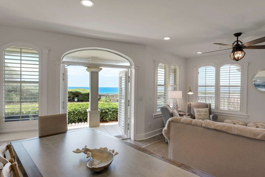 Enjoy the Open Living Area with Views of the Emerald Green and Blue waters of the Gulf of Mexico -
