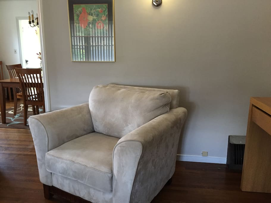 Cozy chair in living room