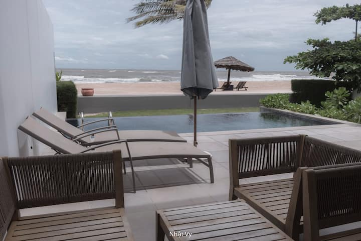 Ho Tram Beach Front Villa 3BR, Private Pool,  BBQ