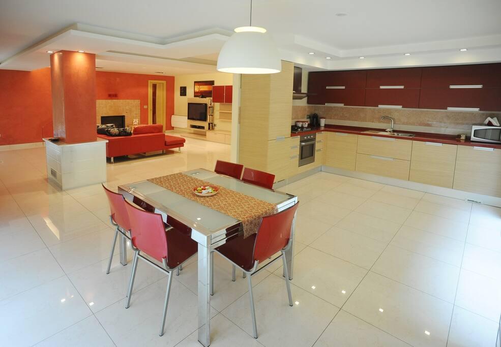 soggiorno cucina casa Dalia