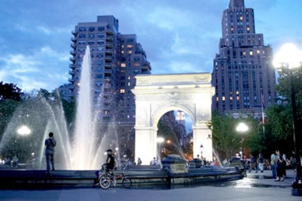 Five minutes walk from bustling Washington Square Park