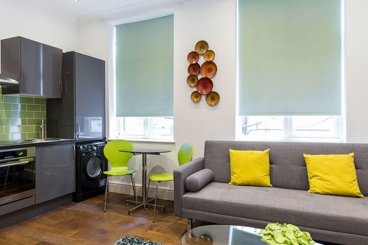Cosy green 1-bedroom apartment