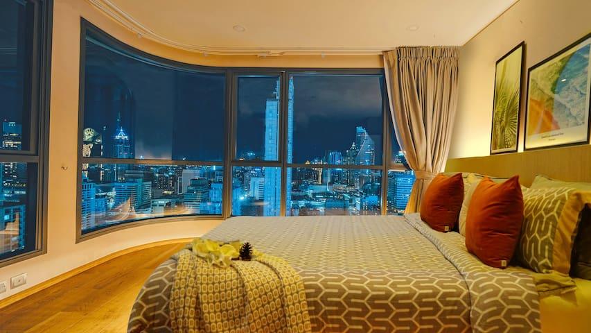 Sky360pool Chitlom Bts 四面佛Centralwrld水门 2bedrooms