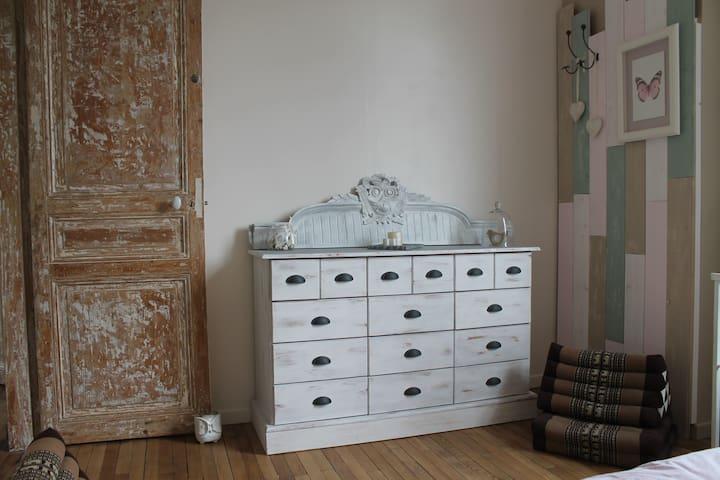 Chambre cosy dans maison agréable proche de Paris - Domont - Casa