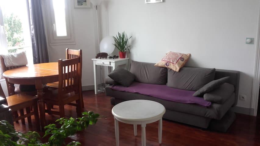 Appartement au calme avec vue sur les arbres
