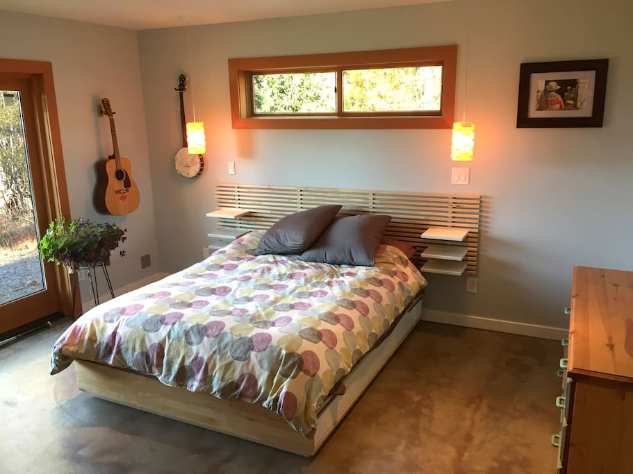 Master Bedroom with Queen Bed and a View