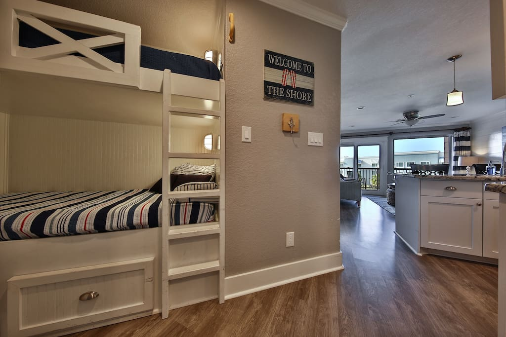 Bunk beds in entry hall