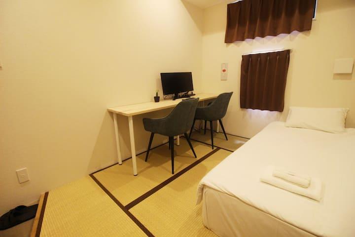 Near Namba area! Single room (Japanese-style room)