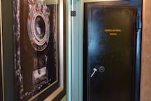 This original 1900's vault door was repurposed from another historic Exchange District building, reaching back to the fur trade.