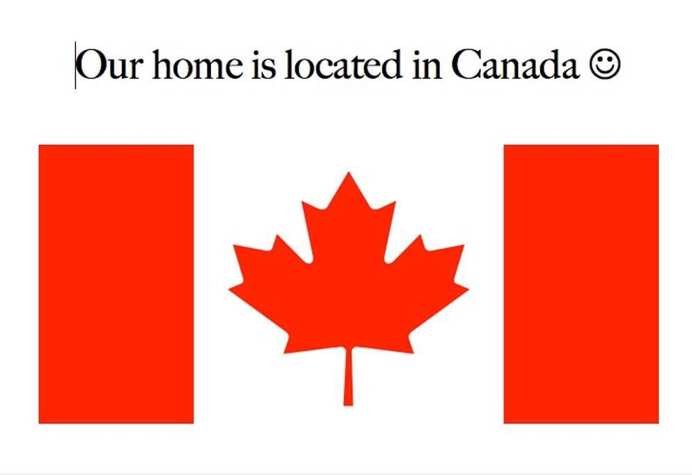 Home is in Canada