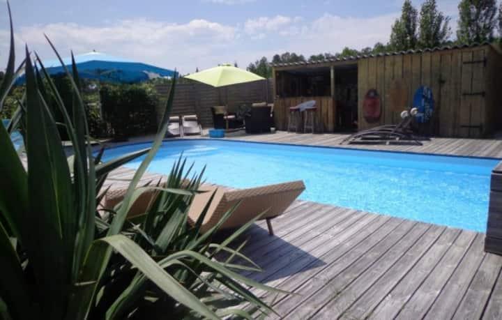 Gîte au coeur des Landes avec piscine 4-6 places